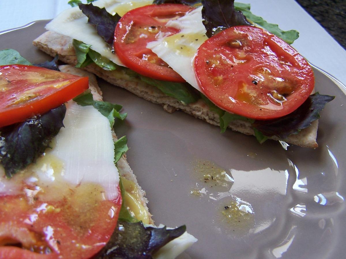 Caprese Sandwich Purple Basil Tomato