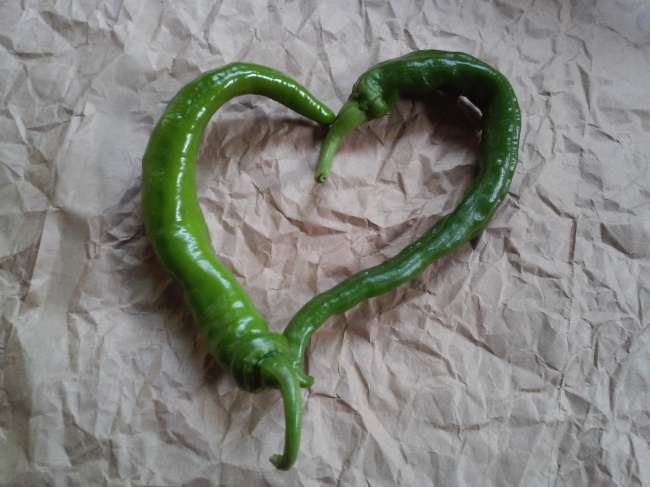 Green Cowhorn Peppers