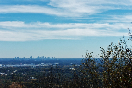Distant View of Atlanta from the top of Kennesaw Mountain