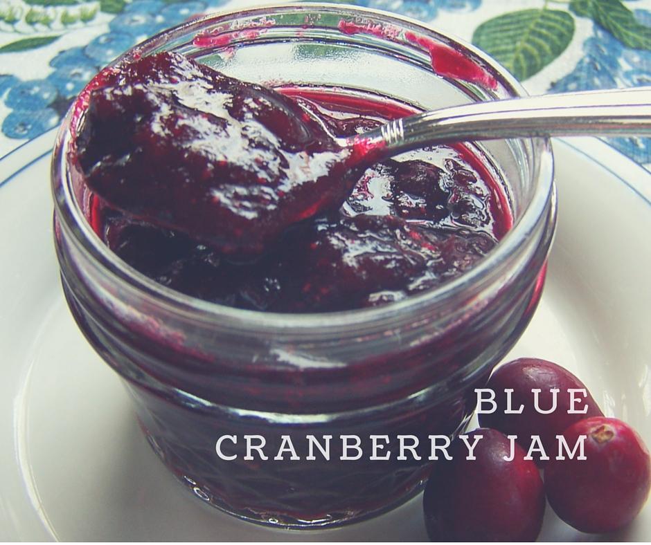 Blue cranberry jam