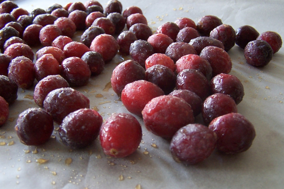 Drying Cranberries