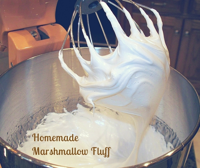 Homemade Marshmallow Fluff in Mixer