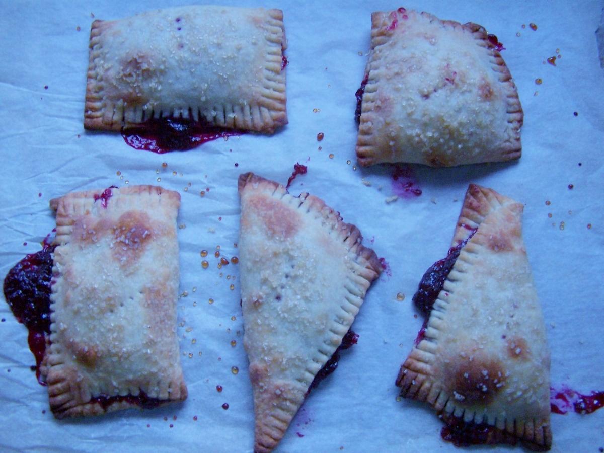 blue cranberry handpies