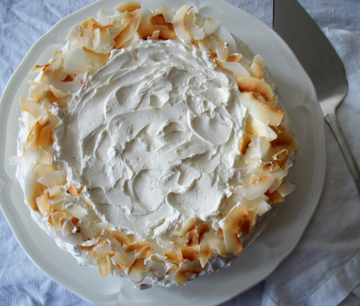 Coconut Lightning Cake