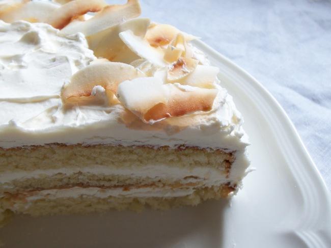 Coconut Cake Lightning Cake