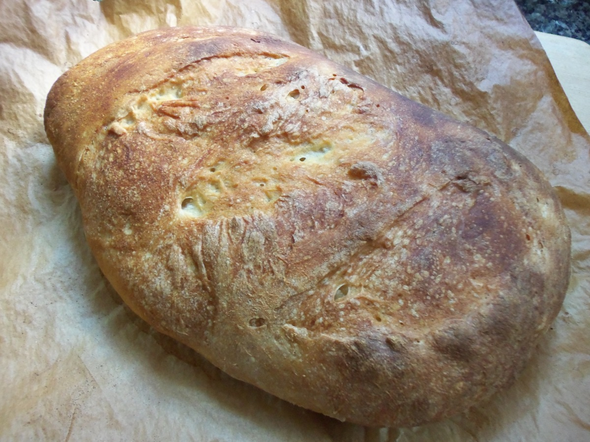 Baked No Knead Rustic Loaf Bread