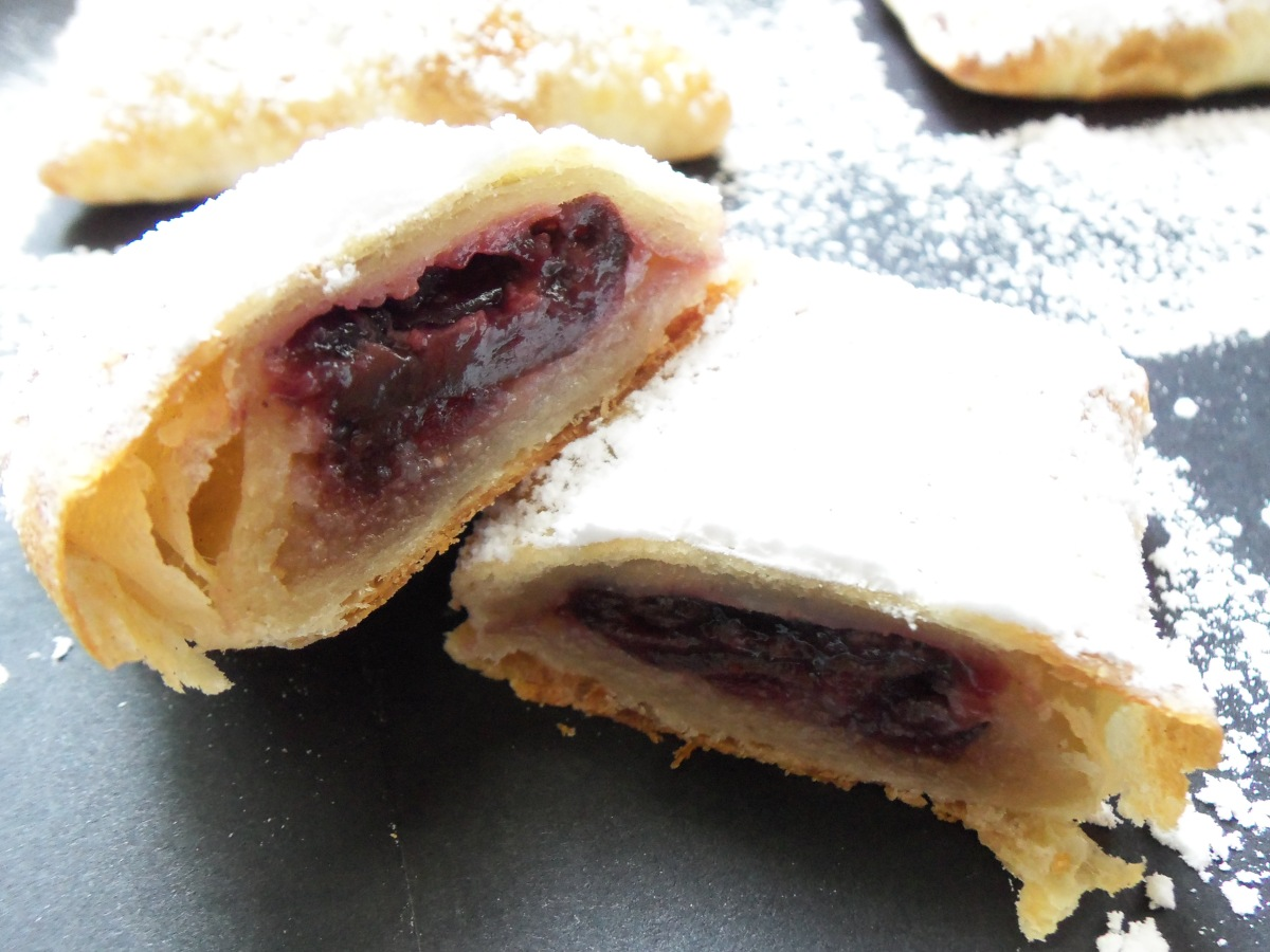 cherry marzipan pastry