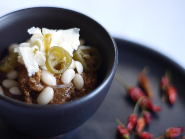 Cincinnati Chili with Pickled Cowhorn Peppers