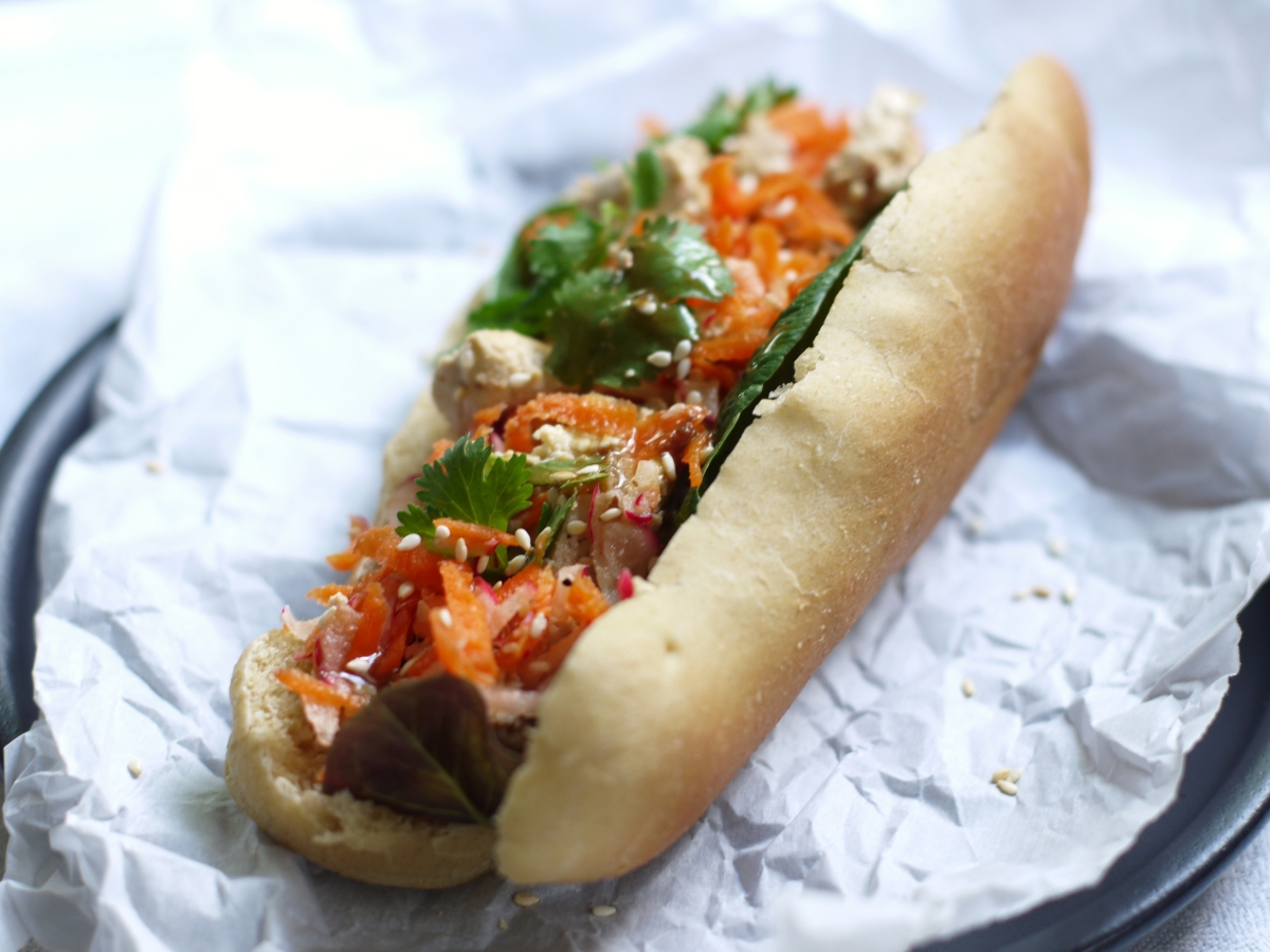 Sesame Tofu Dog
