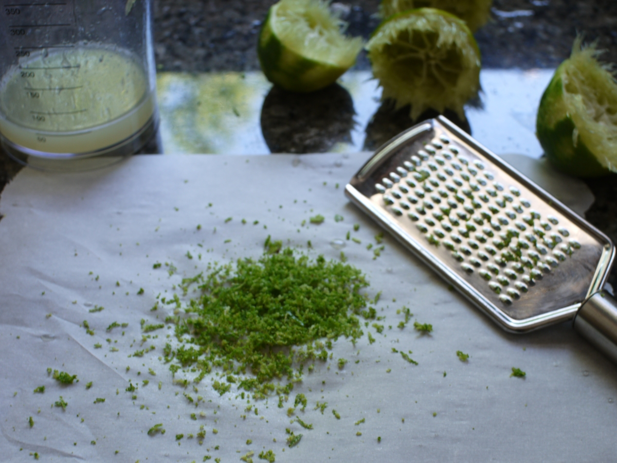 zesting juicing limes