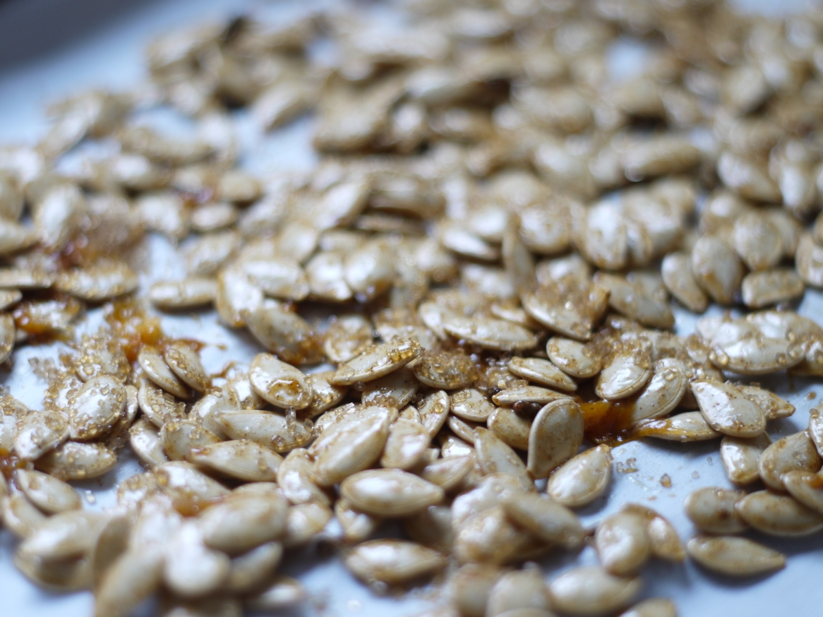 pumpkin seeds before roasting