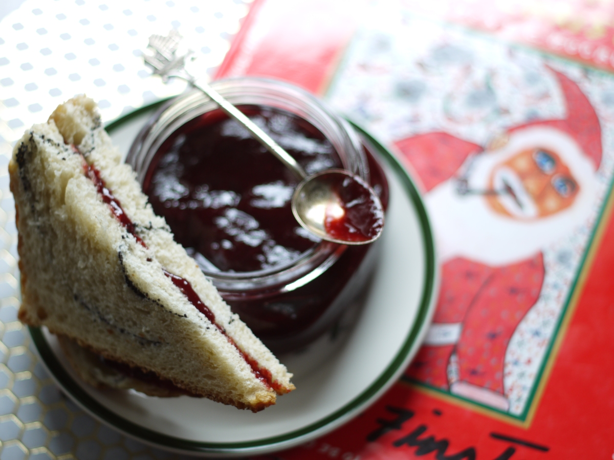 raspberry choco jam