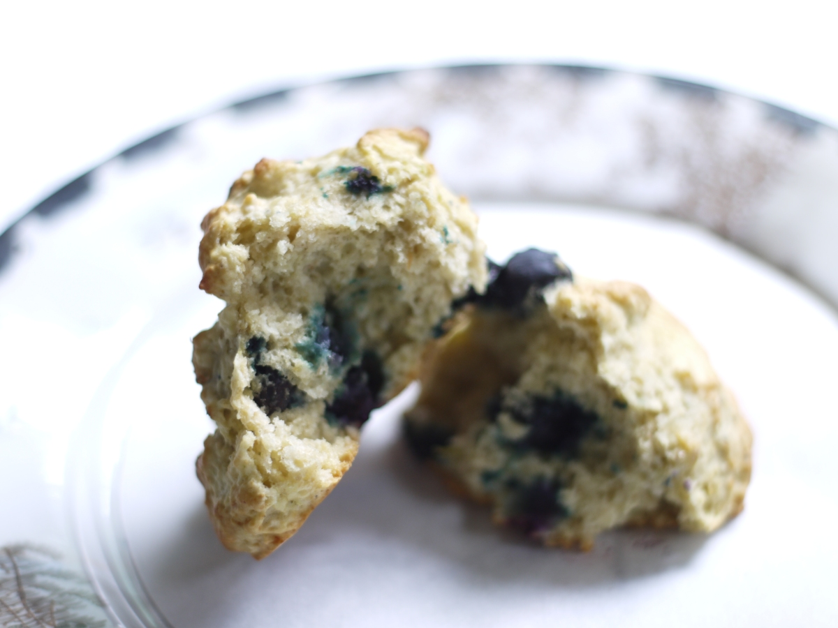 blueberry avocado biscuit