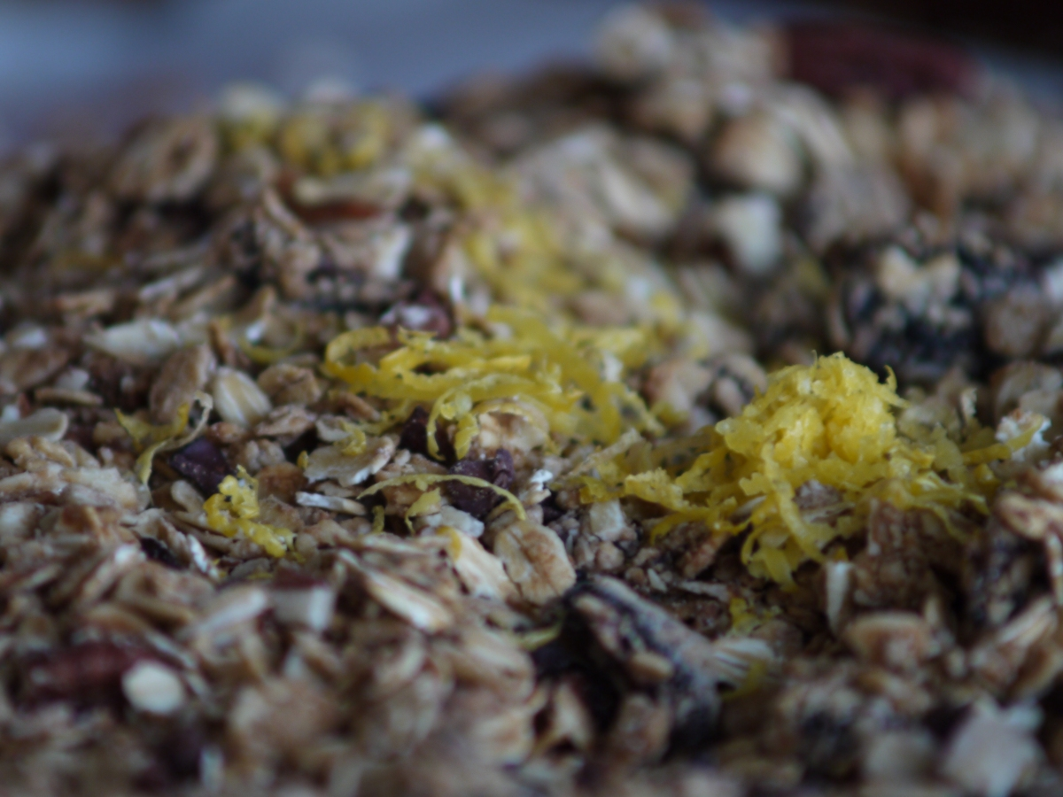 lemon zest in granola